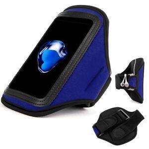 Blue Sports Gym Running Armband Case Holder For iPhone 13 mini/ SE 2020/12 mini