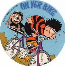 Trade/cerial/card Denis The Menace aand Gnasher Cycling Beano /Dandy/Flora