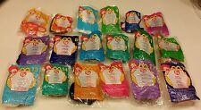 McDonald's 2000 HAPPY MEAL18-Piece Ty Teenie Beanie Babies New but Opened w/Bags