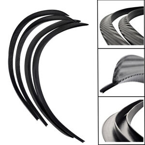 "4X28"" Rubber Carbon Fiber Fender Flares Wheel Eyebrow Covers Body Wheel Arches"