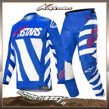 COMPLETO CROSS ENDURO ALPINESTARS RACER BRAAP 2019 BLUE WHITE RED TAGLIA 36 - XL