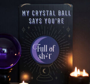 Pagan/Wiccan My Crystal Ball Says, Hanging Sign