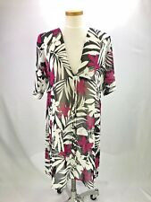 Tommy Bahama Cover Up Sz L  Black White Fuschia Palm Sheer Organza Swim Cover