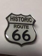 HISTORIC ROUTE 66 BLACK & WHITE LAPEL PIN HAT TAC NEW