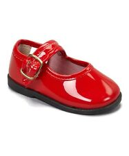Patent Mary Janes Shoes Girls Infant and Toddler 1-10 Red,BLK,WHT,Pink,Beige NEW