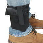 Universal Black Ankle Holster w/ Magazine Pouch Concealed Carry for Small Pistol
