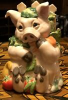 Fitz & Floyd  PERCY THE PIG  Cookie Jar 2004. W/O Box. Excellent Condition