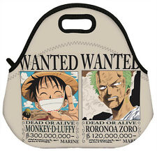 Neoprene Insulated Lunch Bag Anime One Piece Luffy Zoro Wanted Lunch Boxes Tote