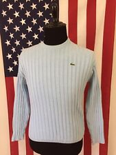 Lacoste Sport Baby Blue Sweater women's 16 large Croc Sky Ribbed cotton 8273