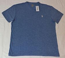 Polo by Ralph Lauren Short Sleeve Delta Blue V-neck T-shirt Small F231
