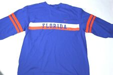 Nike Team Florida Gators Womens XL Blue/Orange 3/4 Sleeve Shirt