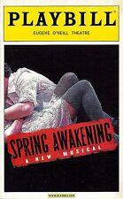 "Lea Michele ""SPRING AWAKENING"" Jonathan Groff / John Gallagher Jr. 2006 Playbill"