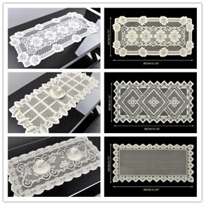 Vintage Lace Table Runner Doily Wedding Party Home Decor Floral Pattern 40x80cm