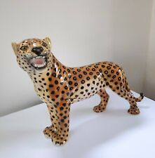 More details for vintage leopard/cheetah made in italy. statue figure sculpture.