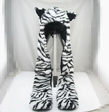 Tiger Hood Faux Fur Hat with scarf mittens & paws Spirit 3 in 1 USA
