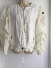 Moncler White-color & Front Zipper JACKET. Size 5
