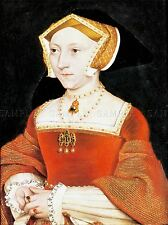 PAINTING ANTIQUE HOLBEIN JUNIOR TUDOR QUEEN JANE SEYMOUR ART PRINT LAH511A