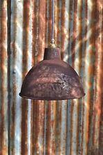 RUSTY STEEL VINTAGE STYLE BARN LAMP WORKSHOP CEILING LIGHT SHADE RS1G3