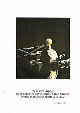 PUBLICITE  1978   LANVIN  parfum ARPEGE