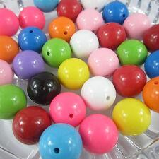65PCS 24mm Mixed Chunky Gumball Acrylic Beads Charm Bracelet Necklace Jewelry
