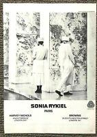 Vintage Original 1980's Vogue Magazine Advert Sonia Rykiel Paris Picture 80s Ad