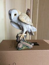 COUNTRY ARTISTS BARN OWL ON CARTWHEEL CA00239 USED BOXED