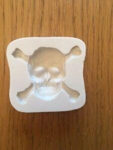 Halloween Skull silicone mould CupCake decorating sugarpaste Fondant 4cm x 5cm