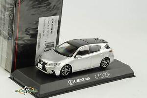 Lexus CT200h F Sport Black Platinum Silver 1:43 Kyosho Diecast