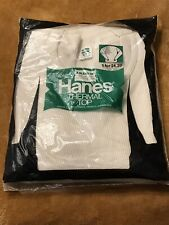 Vintage Nos Men's Hanes Thermal Long Sleeve Top Shirt Xl New In Package