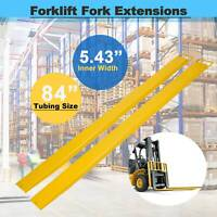 "Forklift Pallet Fork Extensions Forklifts and Loaders Truck 84 x 5.8"" Heavy Duty"