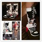 Batman DC Comics Suicide Squad Harley Quinn Cosplay Boots High Quality Costume!!