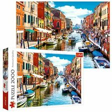 Trefl 2000 Piece Adult Large Murano Island Venice Canal Boat Jigsaw Puzzle NEW