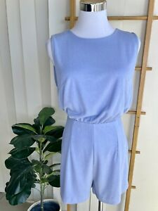 Kookai Soft Blue Ribbed Playsuit Size 1 - Made In Fiji