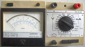 Russisches Multimeter Z4353B4.1 (U4353B4.1) mit Transp. Koffer u. Bedienungsanl.