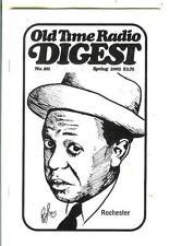 OLD TIME RADIO DIGEST #01, spr/03 rare US digest mag, Jack Benny, Rochester