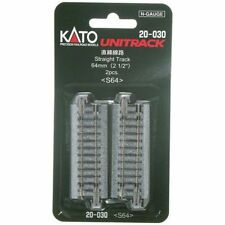 "Official New KATO N Scale : 20-030 UNITRACK 64mm (2 1/2"") / AIRMAIL Only"