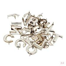52Pcs DIY Letter Metal Rivets Claw Studs for Bags Clothes Hats Leather Decor