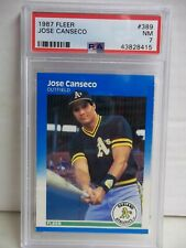 1987 Fleer Jose Canseco PSA NM 7 Baseball Card #389 MLB