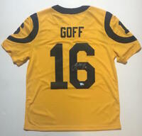 JARED GOFF Autographed Los Angeles Rams Color Rush Nike Limited Jersey FANATICS