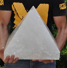 77.75lb Super Huge NATURE transparent QUARTZ CRYSTAL PYRAMID POINT HEALING