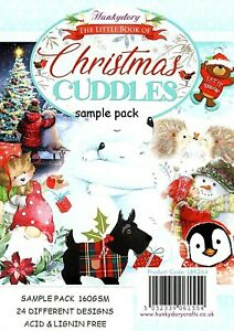 CHRISTMAS CUDDLES  Hunkydory Little Book Sample Pack  Christmas 24 Glossy sheets