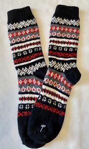B.ELLA Kathleen Wool Cashmere Angora Crew Socks Womens Black Red Gray White NEW