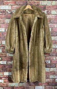 Sears Fashions Tissavel France Womens Brown Faux Fur Coat Large UK 14 16  : J385