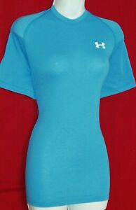 UNDER ARMOUR HEAT GEAR WOMEN'S SHORT SLEEVE ACTIVE WEAR LOOSE FIT TOP STRETCHY S