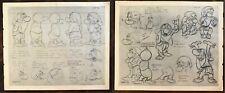 2 original Grumpy/ Snow White- W.D.P. F1 Photostat Model Sheet 1 & Sheet 2