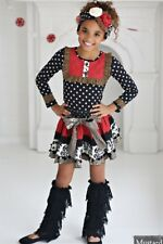 Mustard Pie Enchanted Holiday Rosalyn Skirt in Multi Sz 4t Red Black