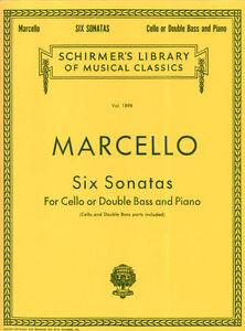 Benedetto Marcello 6 Sonaten Cello Kontrabass Piano