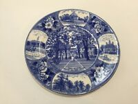 Old English Staffordshire Ware Blue Plate WILLIAMSBURG VA Wren Building College
