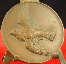 Médaille Oiseau Bird Dove Colombe Senateur Pierre Tajan medal 铜牌 1978