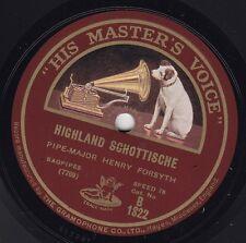Pipe-Major Henry Forsyth - HMV B 1822 - BAGPIPES - Highland Schottische